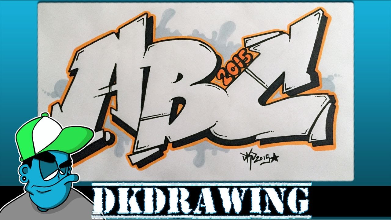 Graffiti tutorial for beginners how to draw graffiti style letters a to c youtube
