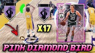 NBA 2K18 PINK DIAMOND 99 OVERALL LARRY BIRD GAMEPLAY!! *17 HOF BADGES* | NBA 2K18 MyTEAM GAMEPLAY