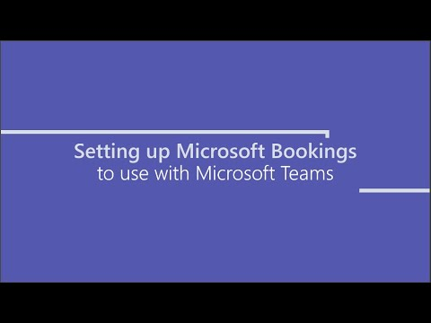Setup Bookings for Microsoft Teams
