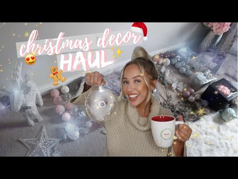 CHRISTMAS DECOR HAUL 2018 | B&M, MATALAN, POUNDLAND, HOMESENSE