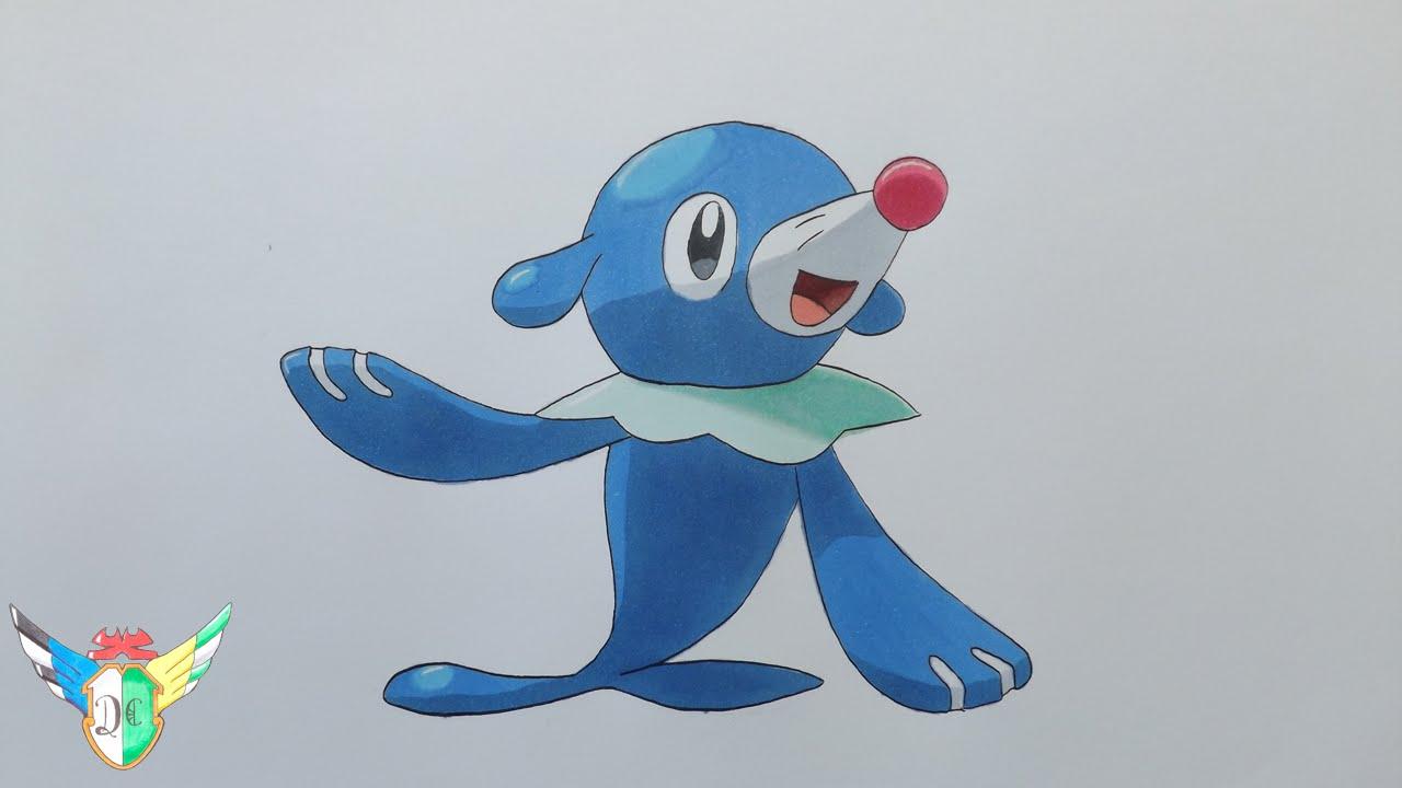 Speed Draw Popplio From Pokemon Sun Amp Moon Youtube