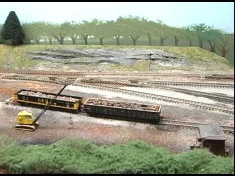Model Railroad, Model Trains: Yard Scene! (BETTER QUALITY VIDEO)