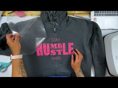 How To Apply HTV To A Zipper Hoodie
