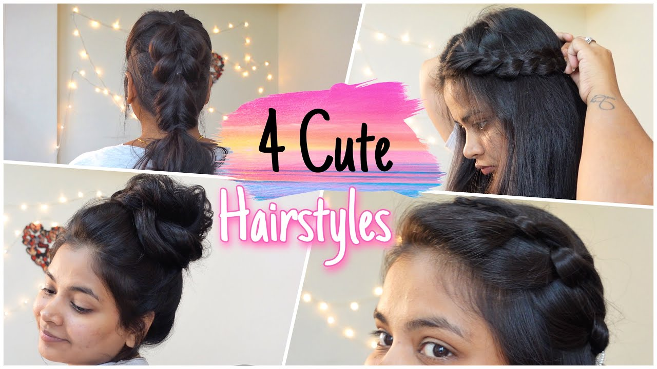 4 Cute party Hairstyle Anyone can try! 💕