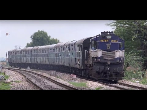 Superfast Agra Fort Ajmer Intercity Express Displays Its Might. Beautiful Ending !!!