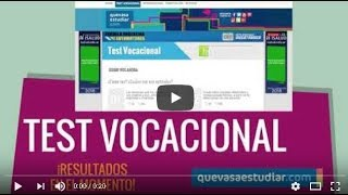 ¿Qué vas a estudiar? - Test Vocacional - Carreras - Cursos https://www.quevasaestudiar.com
