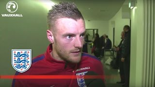 Vardy on his 1st international goal for England v Germany | FATV News