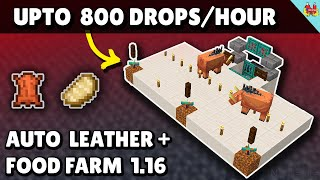 SUPER Easy Food Farm & Leather Farm Minecraft 1.16 (Hoglin Farm) Automatic Farm - Minecraft Tutorial
