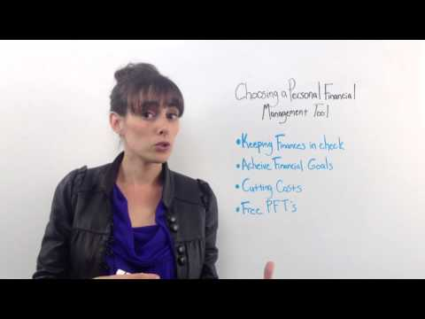 Choosing a personal financial management tool