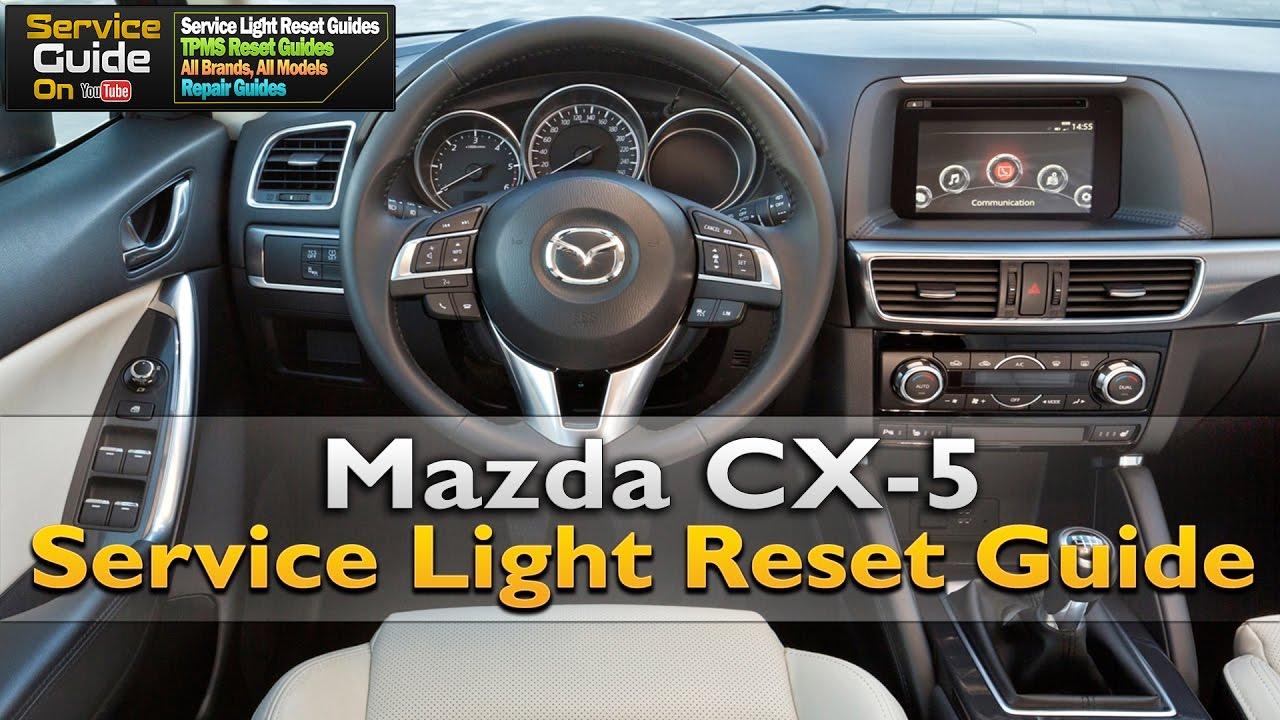mazda cx-5 service light reset - youtube