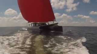 GUNBOAT 60 For sale.  Sailing and Interior Tour