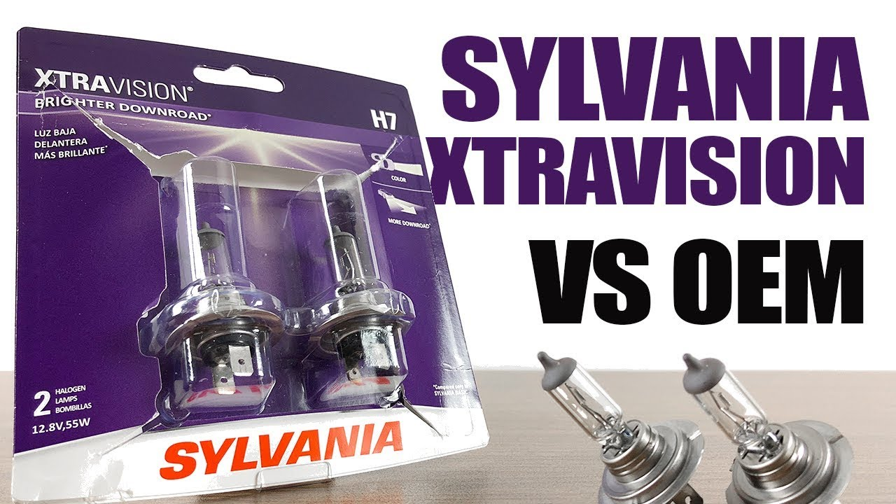 Sylvania XtraVision vs OEM / Original Headlight Bulbs Comparison