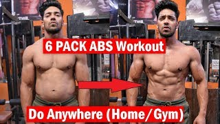 Best 6 PACK ABS WORKOUT (Home/Gym) Do Anywhere