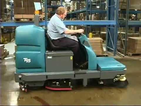 Tennant t15 floor scrubber operator training youtube for Floor operator