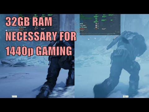 32GB Vs 16GB RAM 1440p Gaming