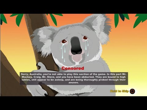 Banned South Park The Stick Of Truth, (Crying Koala) Censored Australian Scenes