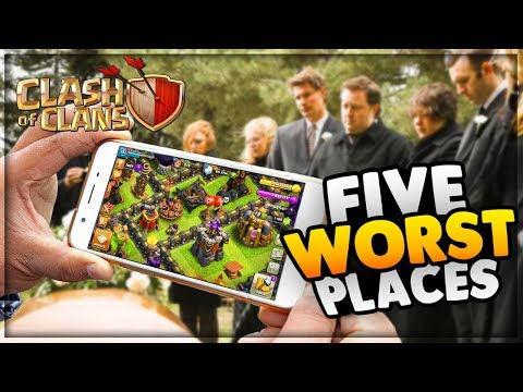 5 Worst Places to Play Clash of Clans [2018 Edition] + (200$ Giveaway)