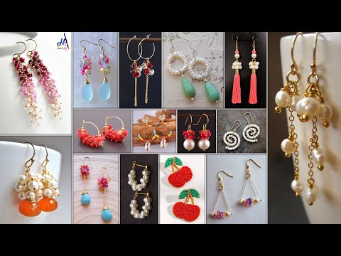 Trendy and Stylish!!.. 15 Home-Made Design of DIY Earrings for Fancy Girls || Daily Were