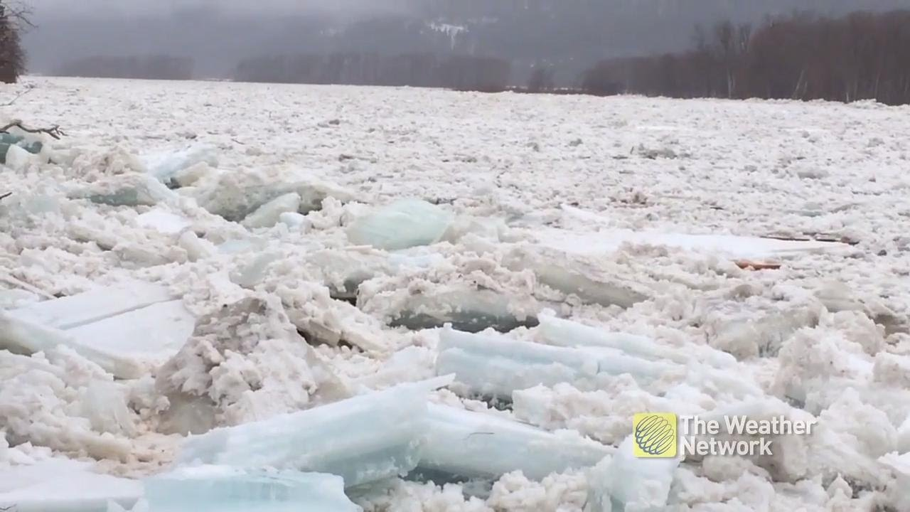 you-won-t-believe-how-fast-the-ice-is-flowing-down-this-river