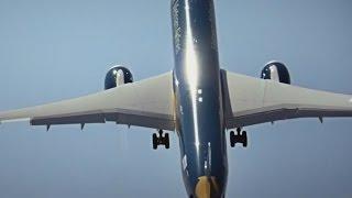 Boeing 787-9: Hier startet ein Dreamliner fast senkrecht