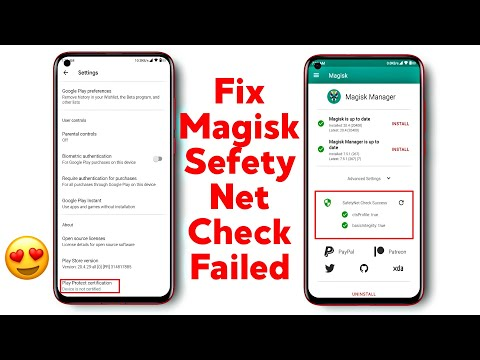 Fix Device is Not Certified | Magisk SafetyNet Check Failed