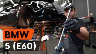 Substituição Bieleta de barra estabilizadora BMW 5 SERIES: manual técnico
