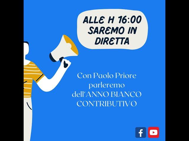 ANNO BIANCO CONTRIBUTIVO - DIRETTA DEL 20 SETTEMBRE 2021