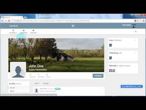HumHub - Social Network on Yii framework
