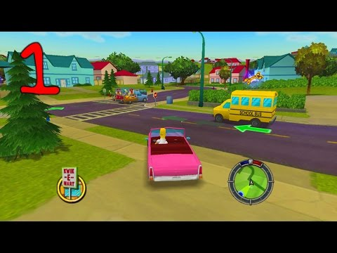 Jahova Plays The Simpsons Hit & Run Episode 1! (Easy Tutorial Level)