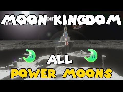 Super Mario Odyssey - Moon Kingdom All Power Moons