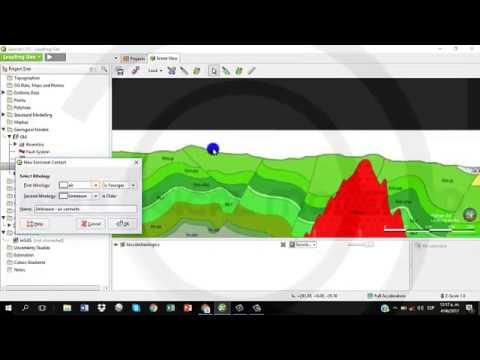 Leapfrog Geo - Modelo geológico 3D en base a sección (part 1/2)