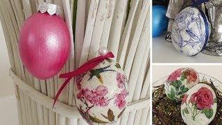 Osterdeko basteln: nostalgische Ostereier mit Serviettentechnik selber machen | Deko Kitchen