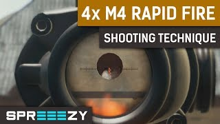 PUBG 4x M416 RAPID FIRE Shooting Technique