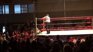 Allie Parker (heel) vs Calamity Kate (face) at All Star Wrestling in Cloverdale, B.C. May 2018