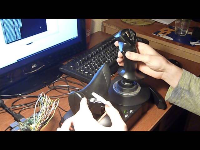 Joystick HOTAS X + Raspberry Pi + Analoge Servo Power HD