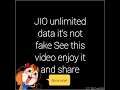 hot to get jio unlimited data