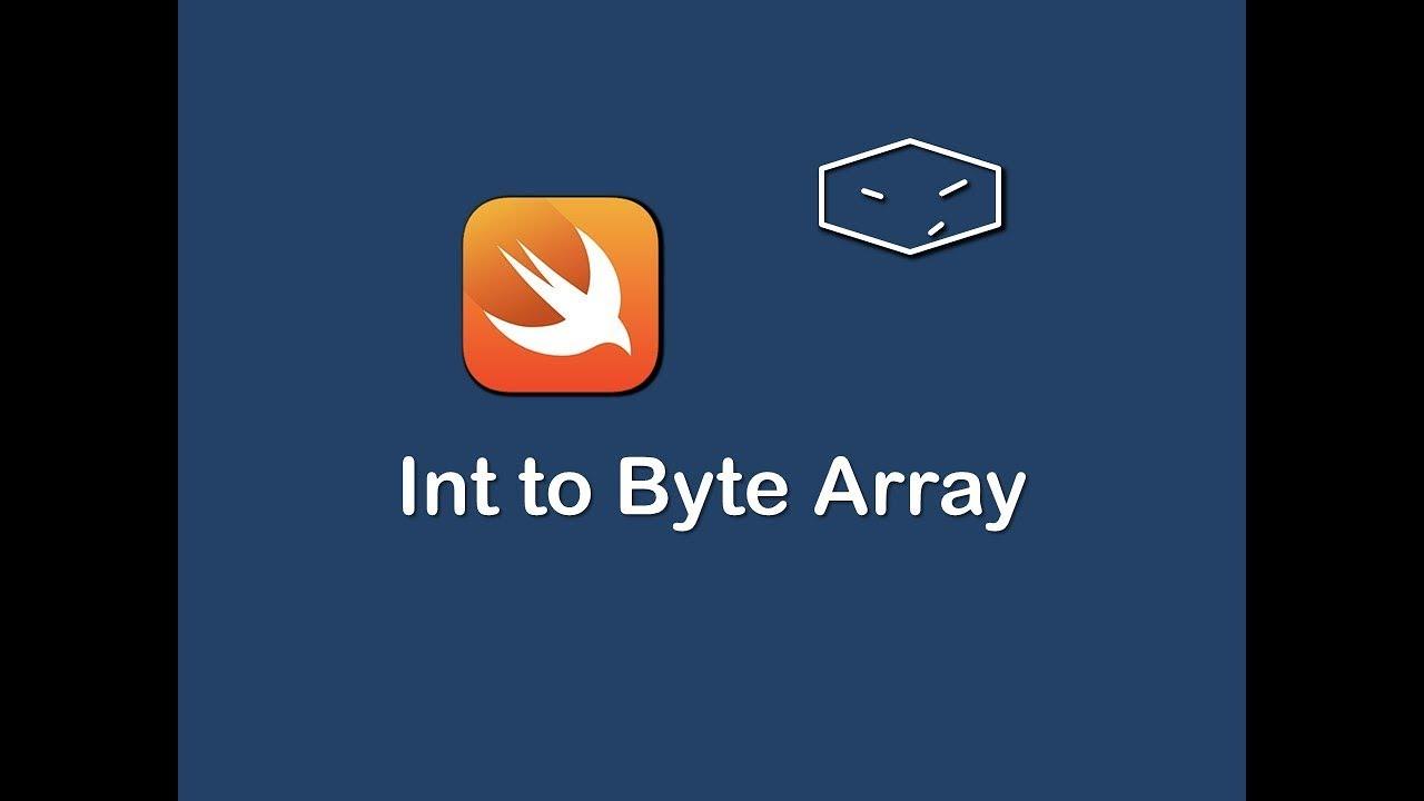 int to byte array in swift 3
