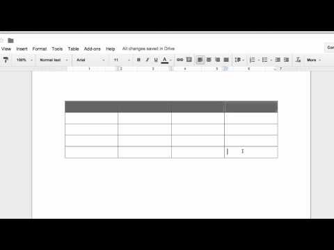 how to close table in google docs