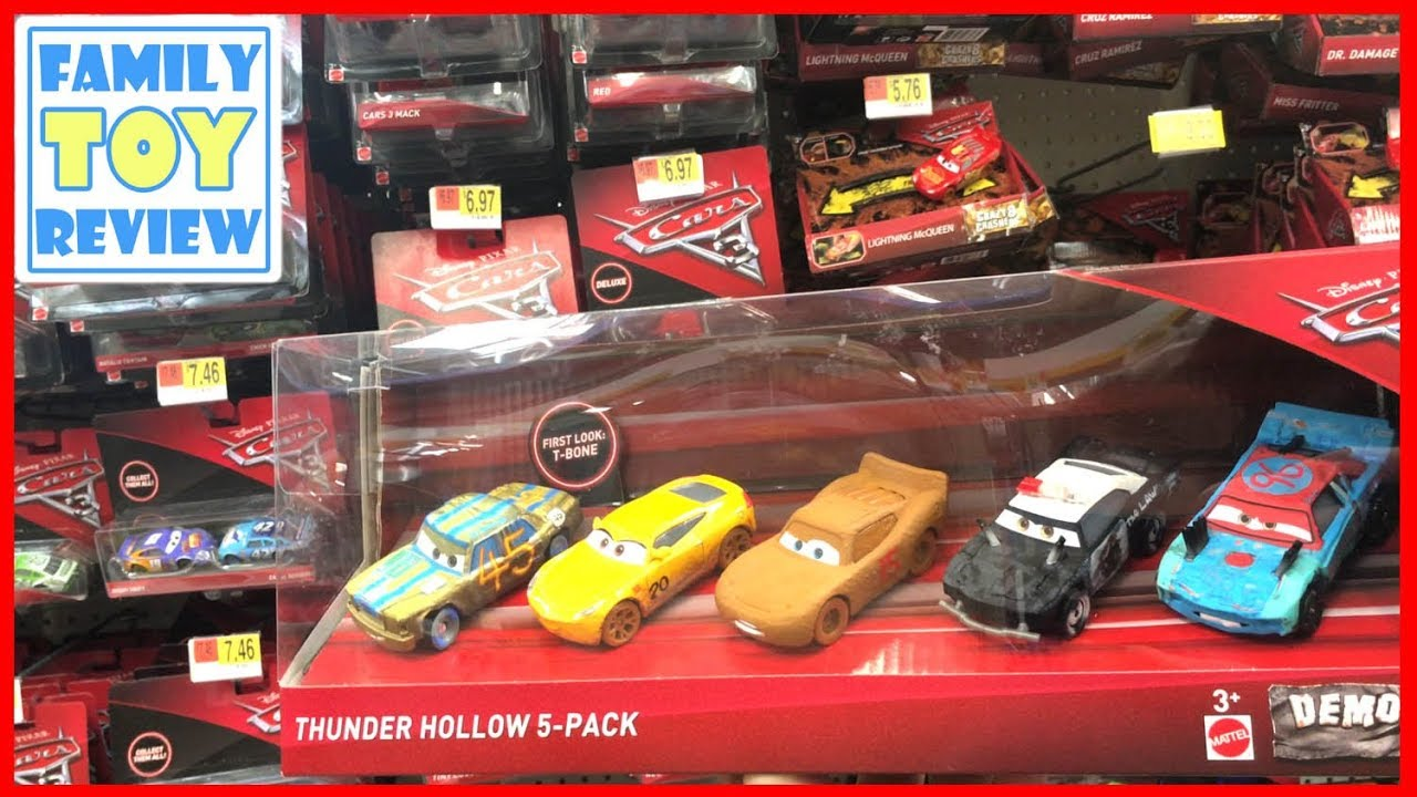 New cars 3 toys r us toy hunting thunder hollow 5 pack die for Bureau cars toys r us