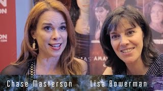 Lisa Bowerman and Chase Masterson at London Film and Comic Con