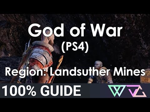 God Of War (PS4) - 100% Guide: Landsuther Mines (Completion Walkthrough)