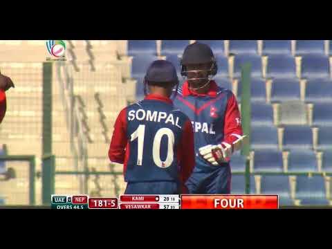 Sompal Kami's glorious sweep shot & Upper Cut skill