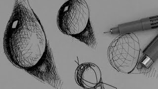 Pen & Ink Drawing Tutorials | How to draw a water drop
