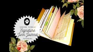 Sewing Single Signature Junk Journal Tutorial