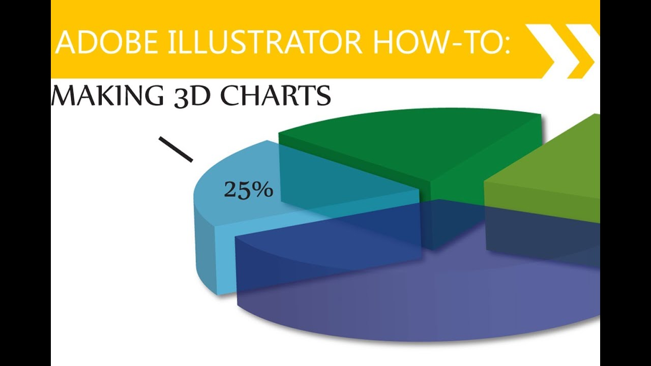 Illustrator Tutorial : 3D Pie Charts - YouTube