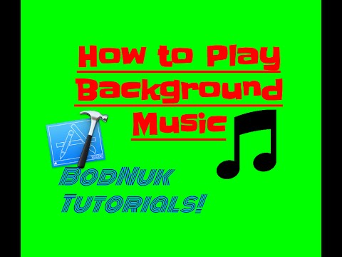 Playing Background Music in Xcode 6 - Objective C - BodNuk tutorials
