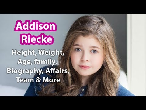 Addison Riecke Height,Weight,Age,Wiki,Family,Net Worth and more