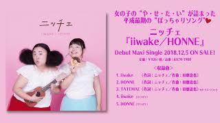 デビューシングル「iiwake / HONNE」試聴映像 / ニッチェ