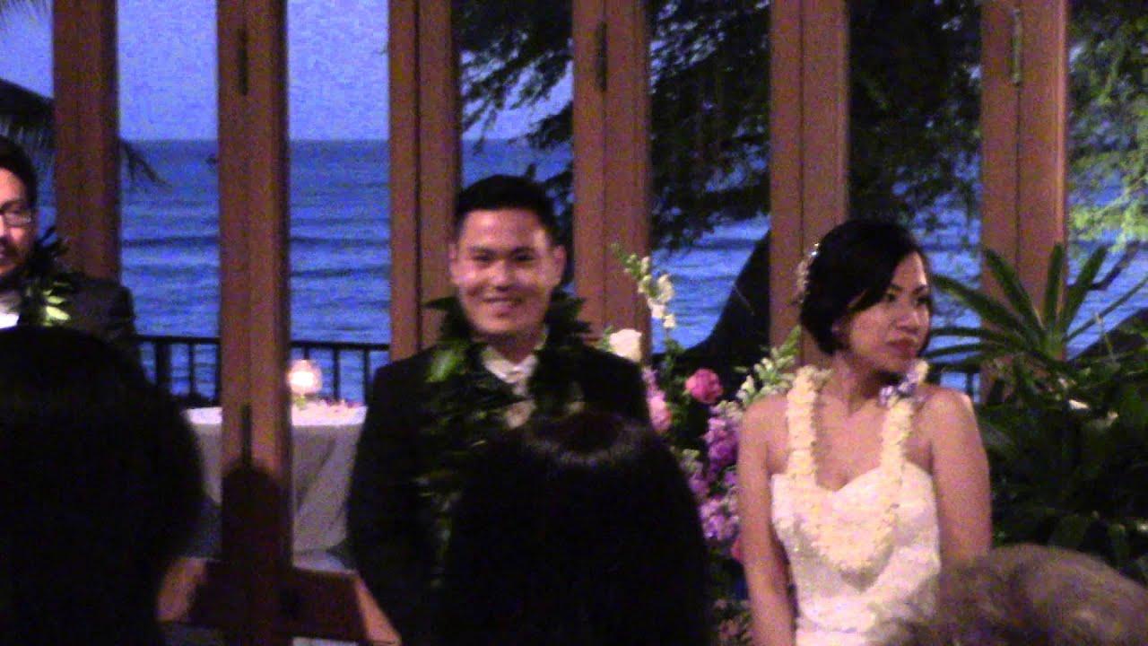 Teruya Lee Wedding Reception Blessing Of The Food Halekulani