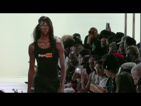 Models on the runway for the Hood By Air Ready to Wear Fashion Show in New York City